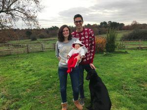 Claire et Nico, avec le petit Arsène